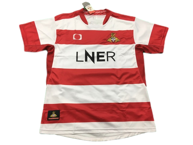 red & white elite pro sport Doncaster Rovers 2019-20 Home Football Shirt