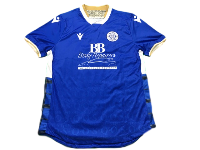 blue macron Queen of the South 2019-20 Home Football Shirt