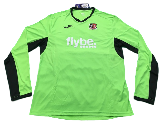 green joma Exeter City 2019-20 Goalkeeper Football Shirt