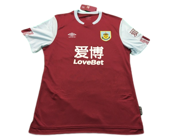 claret umbro Burnley 2019-20 Home Football Shirt