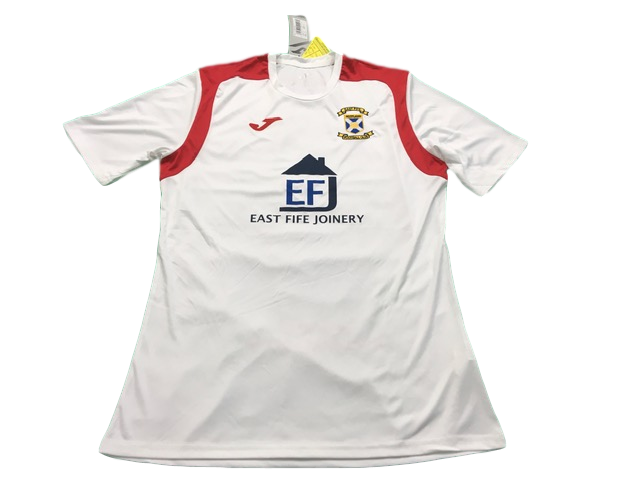white joma East Fife 2019-20 Away Football Shirt
