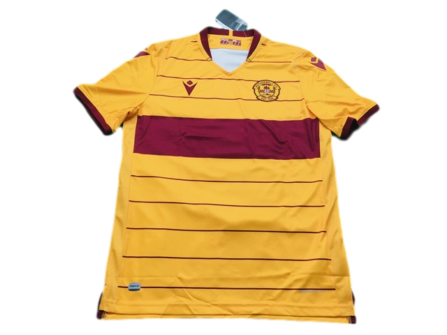 amber macron Motherwell 2019-20 Home Football Shirt