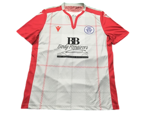 white macron Queen of the South 2019-20 Away Football Shirt