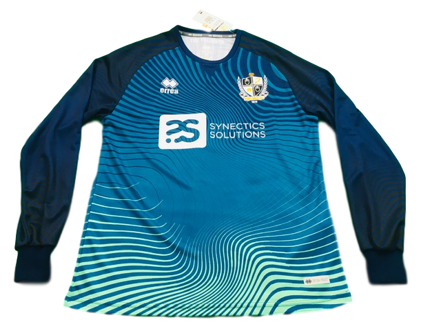 blue errea Port Vale 2019-20 Goalkeepers Football Shirt