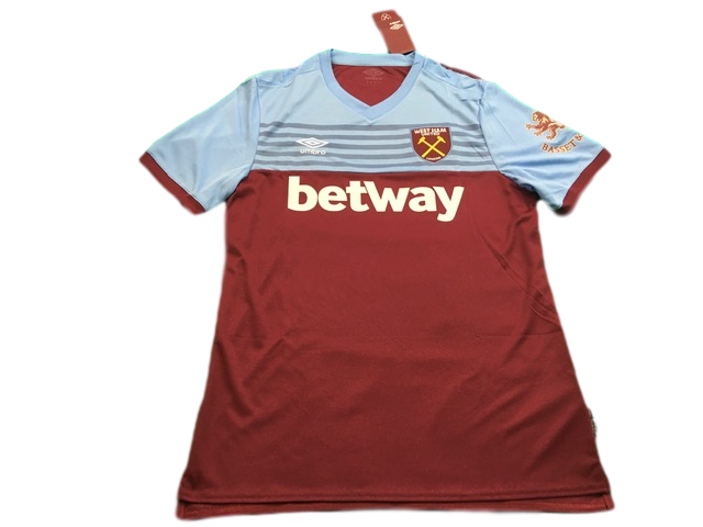 claret umbro West Ham United 2019-20 Home Football Shirt