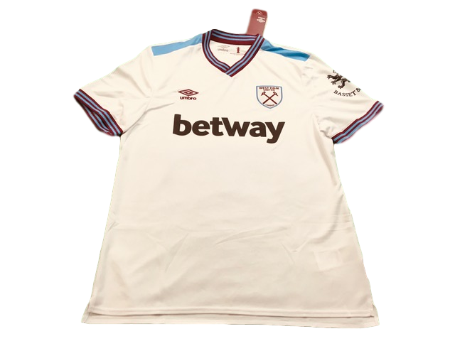 white umbro West Ham United 2019-20 Away Football Shirt