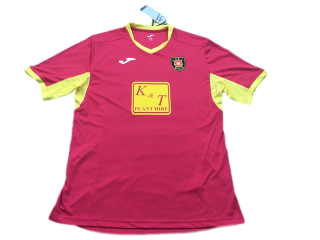 red joma Albion Rovers 2019-20 Away Football Shirt