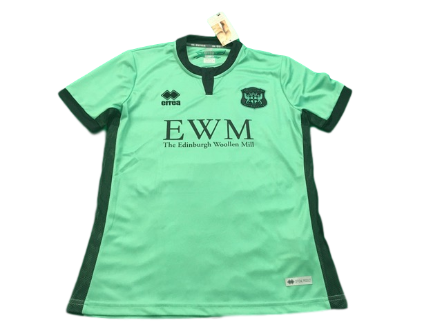 green errea Carlisle United 2019-20 Away Football Shirt