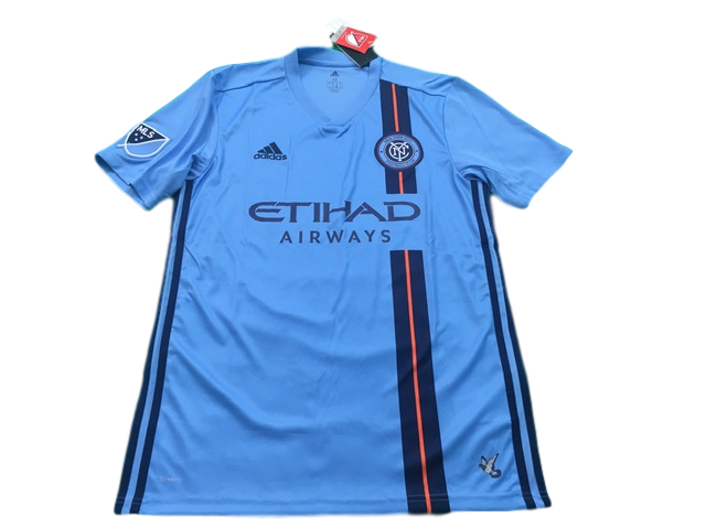sky blue adidas New York City 2019-20 Home Football Shirt
