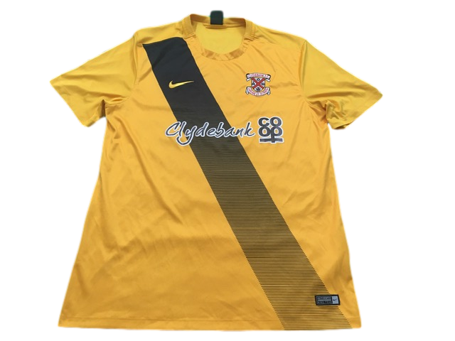 yellow nike Clydebank 2016-17 Away Football Shirt