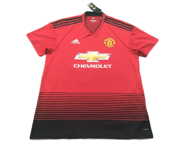 red adidas Manchester United 2018-19 Home Football Shirt