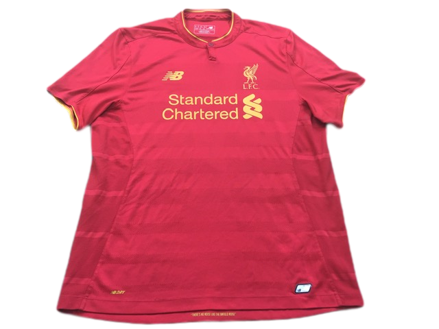 red new balance Liverpool 2016-17 Home Football Shirt