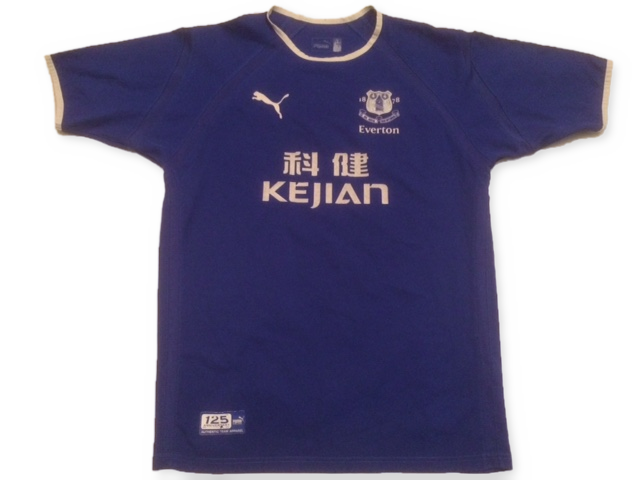 blue puma Everton 2003-04 Home football Shirt