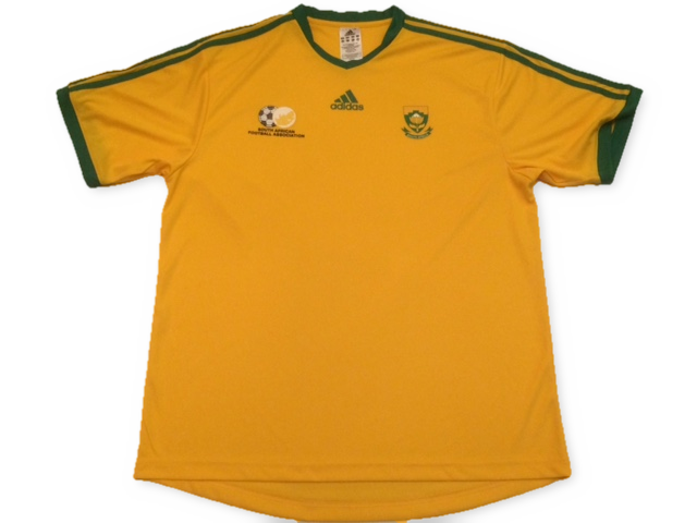 yellow adidas South Africa 2005-07 Home football Shirt