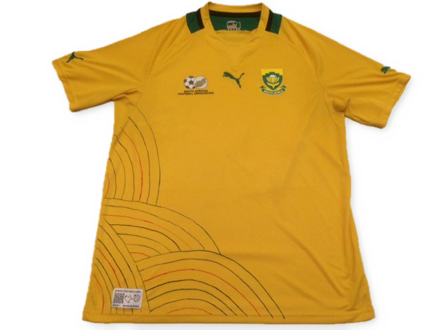yellow adidas South Africa 2012 Home football Shirt