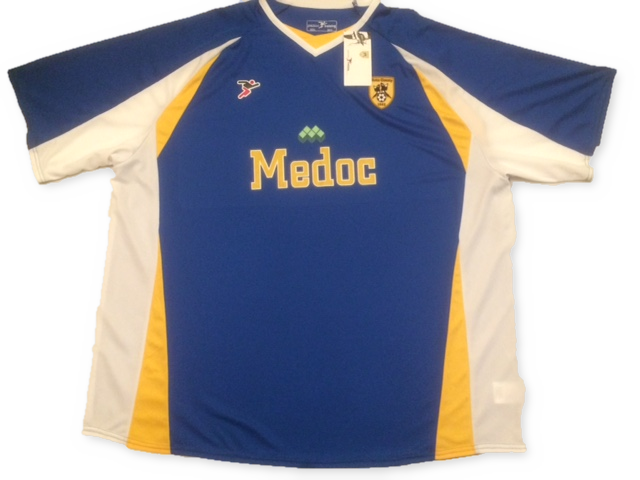 blue precision training Notts County 2007-08 Away football Shirt