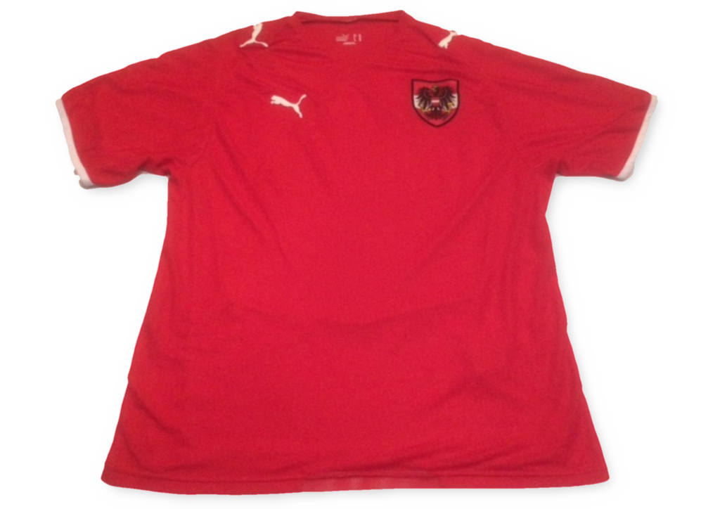 red puma Austria 2008 Home football Shirt