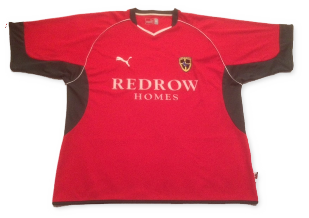 red puma Cardiff City 2004-05 Away football Shirt