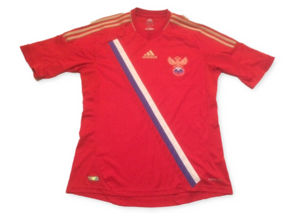 red adidas Russia 2012-13 Home football Shirt