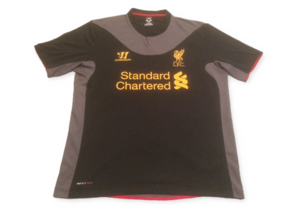 black warrior Liverpool 2012-13 Away football Shirt