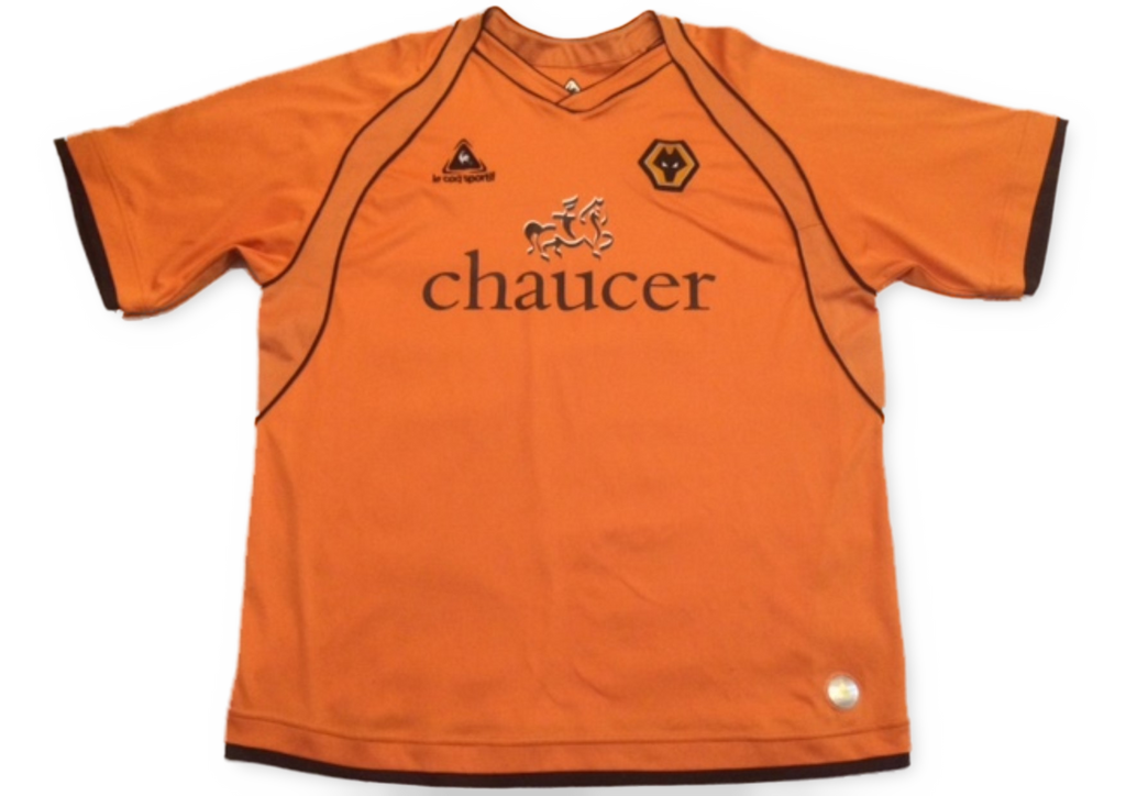 orange le coq sportif Wolverhampton Wanderers 2006-07 Home football Shirt