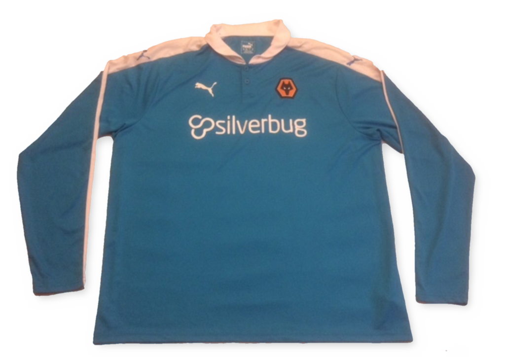 blue puma Wolverhampton Wanderers 2015-16 Long Sleeved Away football Shirt