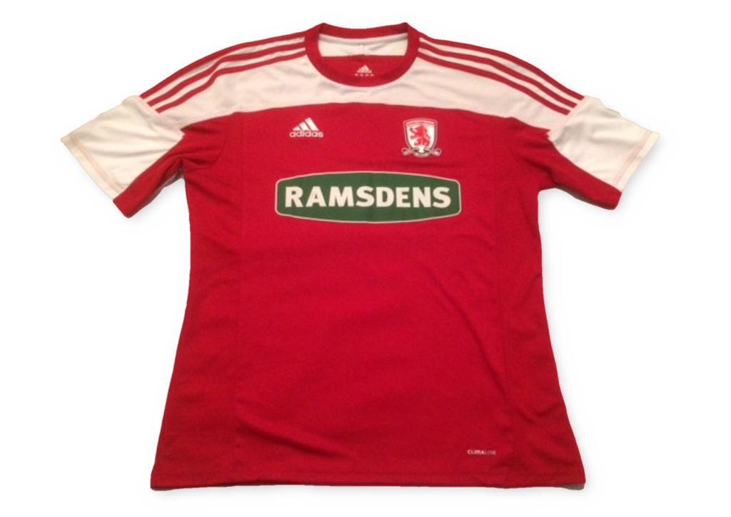 red adidas Middlesbrough 2011-12 Home football Shirt