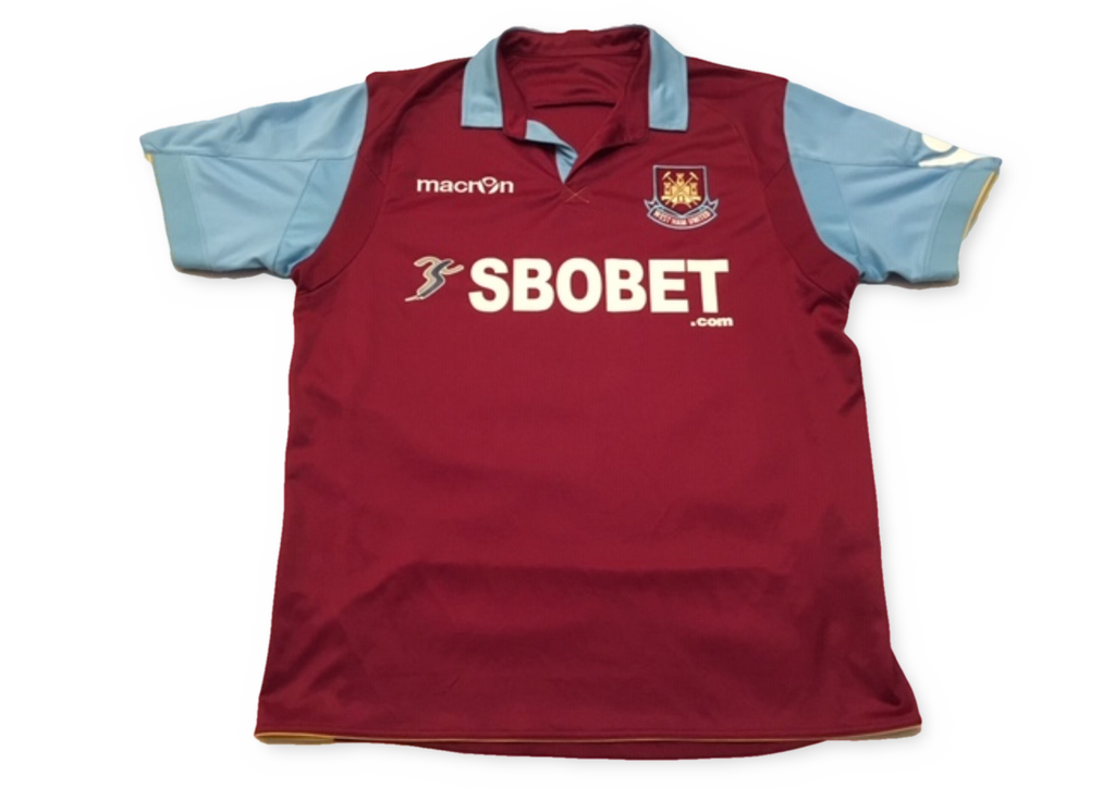 claret macron West Ham United 2010-11 Home football Shirt