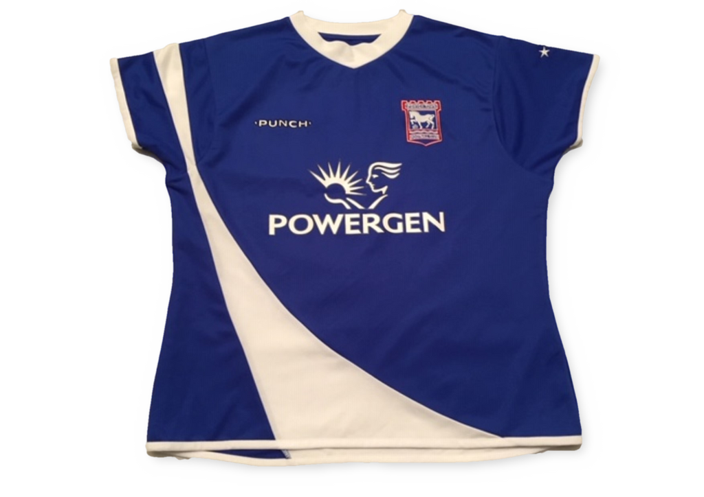 blue punch Ipswich Town 2005-06 Ladies football Home Shirt