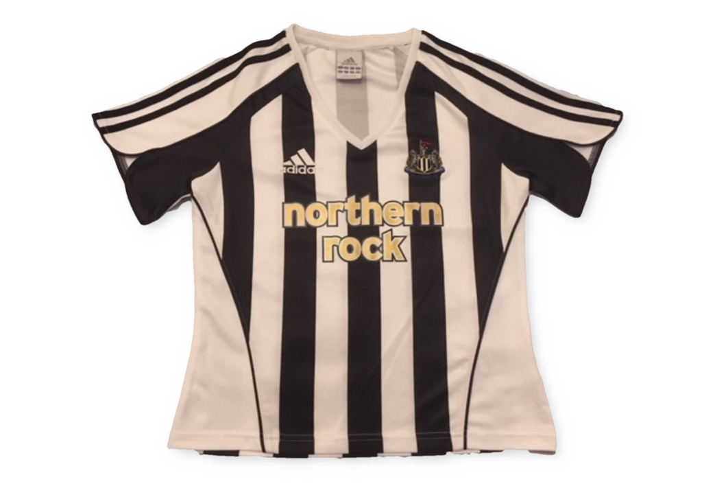 white & black adidas Newcastle United 2005-07 Ladies Home football Shirt