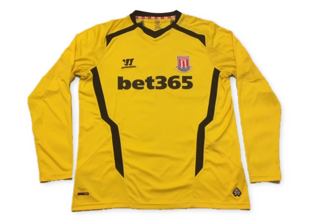Stoke City 2014-15 Long Sleeved Goalkeepers Shirt L