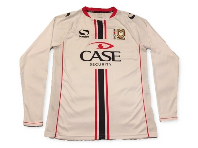 MK Dons 2013-14 Long Sleeved Home Shirt M