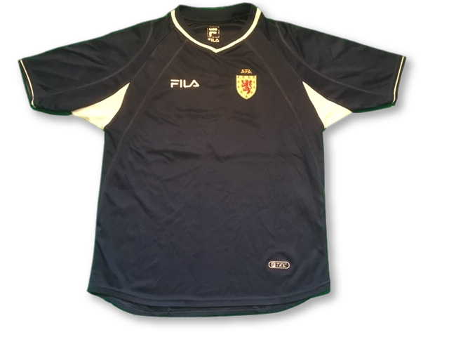 navy fila Scotland 2000-02 Home football Shirt