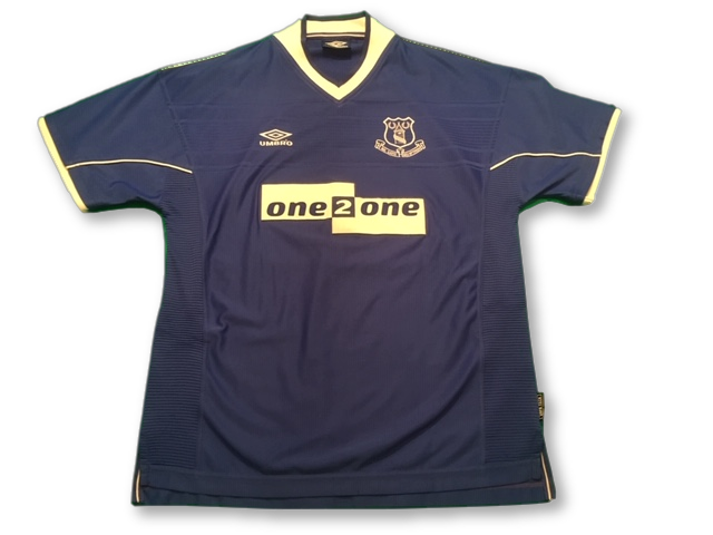 blue umbro Everton 1999-00 Home football Shirt
