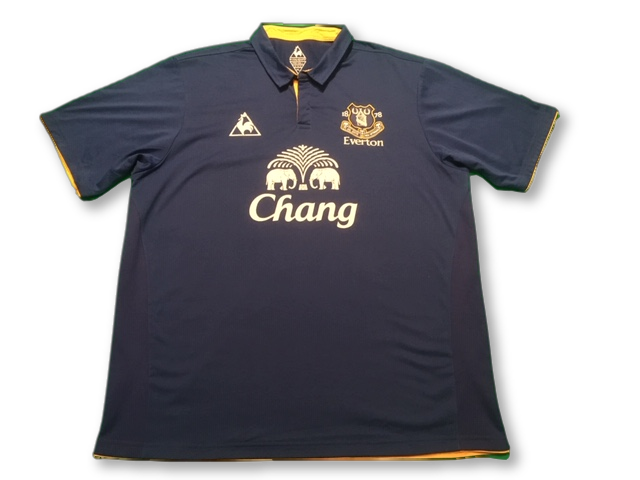 blue le coq sportif Everton 2011-12 Home football Shirt