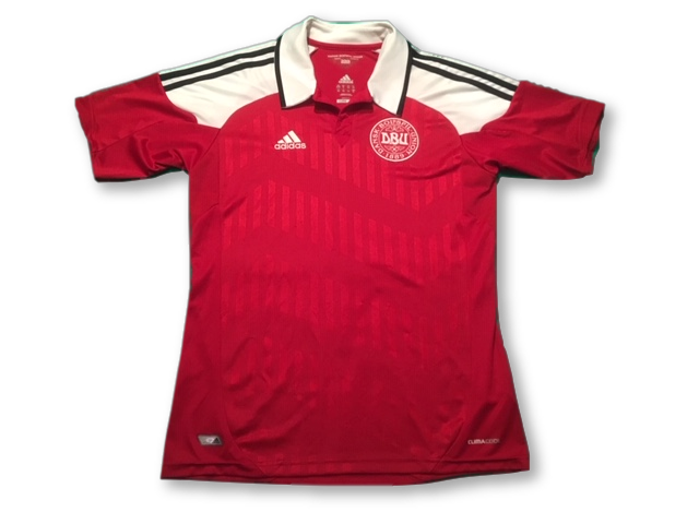 red adidas Denmark 2012-13 Home football Shirt