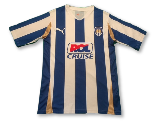 white & blue puma Colchester United 2010-12 Home football Shirt
