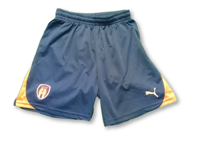 blue puma Colchester United 2010-12 Home football Shorts