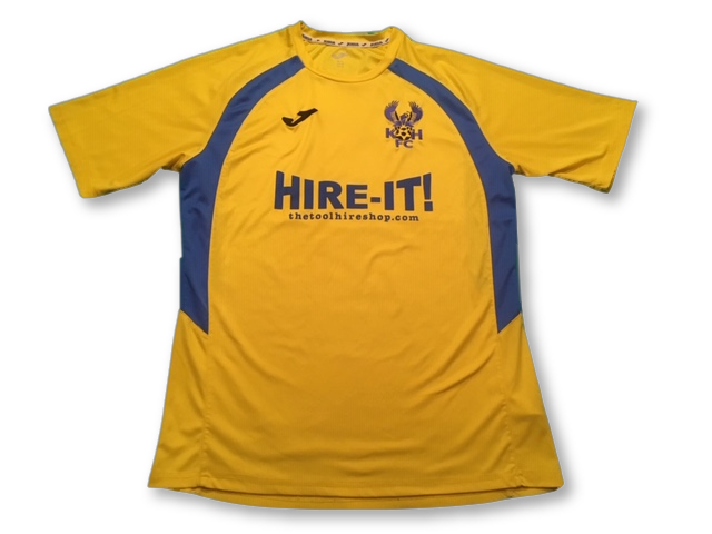 yellow joma Kidderminster Harriers 2015-16 Away football Shirt