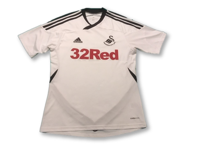 white adidas Swansea City 2011-12 Home football Shirt