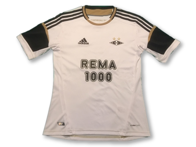 white adidas Rosenborg BK 2012 Home football Shirt