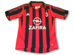 red & black AC Milan adidas 2005-06 Home football Shirt 32/34