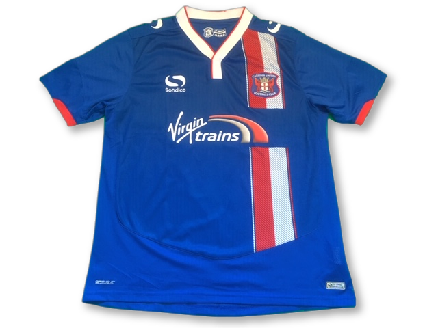 blue sondico Carlisle United 2015-16 Home football Shirt