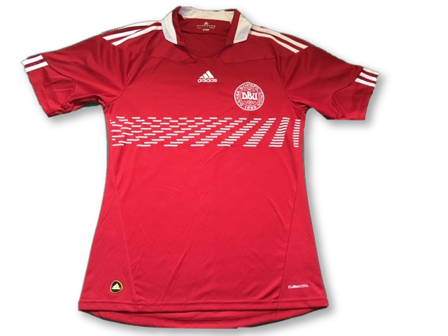 red adidas Denmark 2009 Home football Shirt