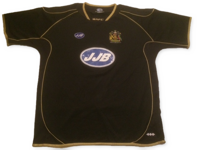 black jjb Wigan Athletic 2004-05 Away football Shirt