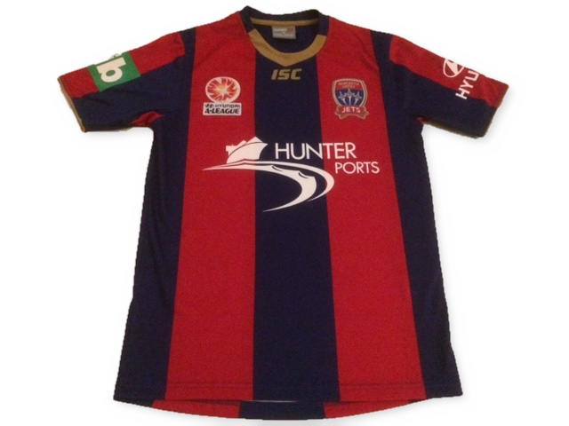 navy & red isc Newcastle United Jets 2011-12 Home football Shirt