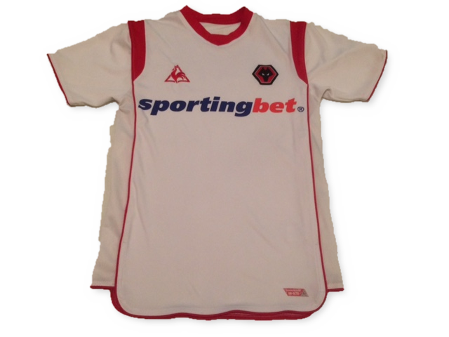 white le coq sportif Wolverhampton Wanderers 2009-10 Away football Shirt
