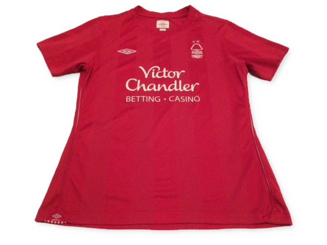 red umbro Nottingham Forest 2010-11 Ladies Home football Shirt