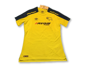 yellow umbro Derby County 2017-18 Away football Shirt