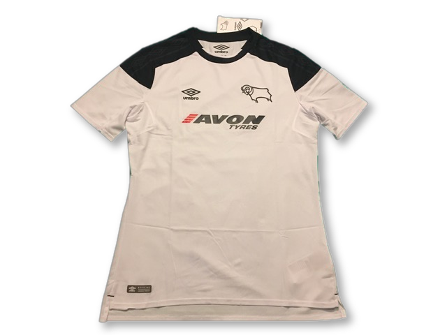 white umbro Derby County 2017-18 Home football Shirt
